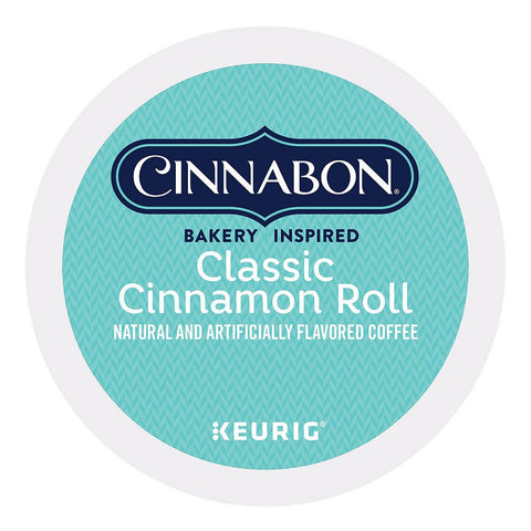 Cinnabon Coffee Keurig K-Cups, Classic Cinnamon Roll Light Roast