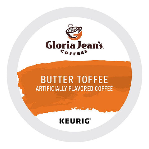 Gloria Jean's Coffee Keurig K-Cups, Butter Toffee