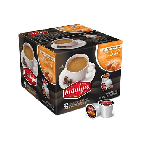Indulgio's Coffee Keurig K-Cups, Sweet and Salty Cappuccino