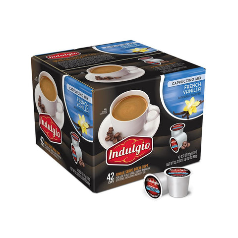Indulgio's Coffee Keurig K-Cups, French Vanilla Cappuccino