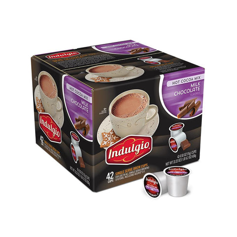 Indulgio's Coffee Keurig K-Cups, Milk Chocolate Cocoa