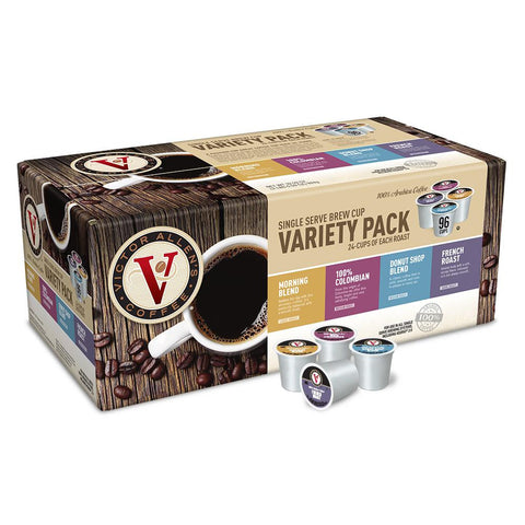 Victor Allen's Coffee Keurig K-Cups, Variety Pack, 96 Single Serve Cups