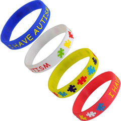 4 Pack - I Have Autism Children's Bracelet (Child Size)