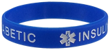 "100 PACK ""TYPE 1 DIABETIC"" Medical Alert ID Silicone Bracelet Wristbands ADULT SIZE (8 Inches)"