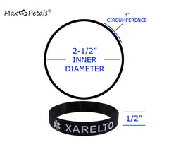 """XARELTO"" Medical Alert ID Silicone Bracelet Wristbands 4 Pack"