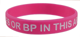 "100 PACK ""NO NEEDLES OR BP IN THIS ARM"" Lymphedema Medical Alert ID Silicone Bracelet Wristbands ADULT SIZE (8 Inches)"
