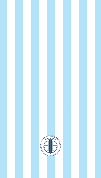 cornflower blue cabana stripe iPhone wallpaper