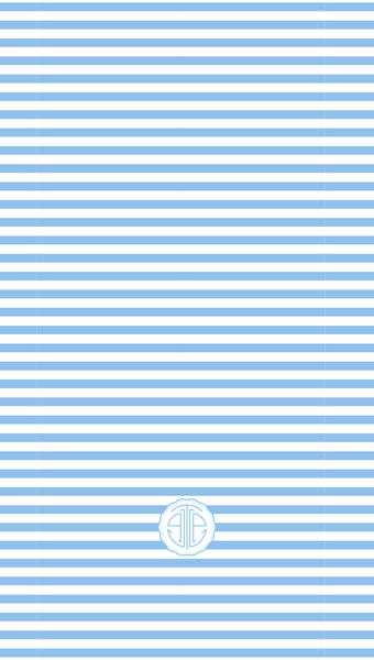 cornflower blue and white striped iPhone wallpaper