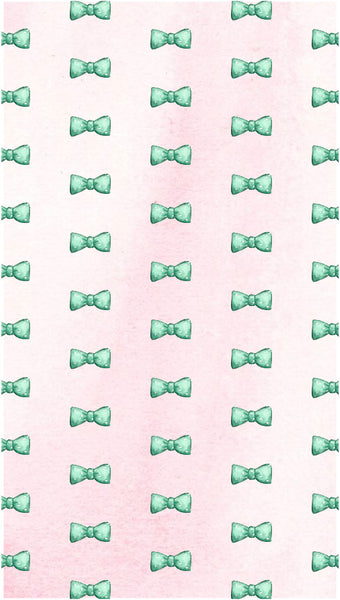 preppy bow tie watercolor iPhone wallpaper