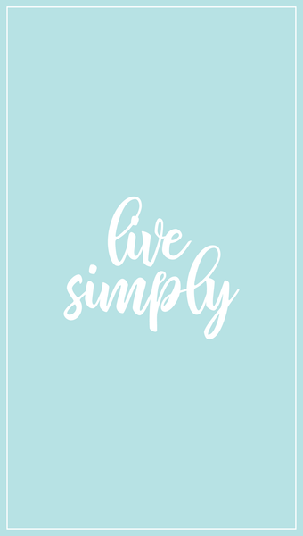 live simply iPhone wallpaper