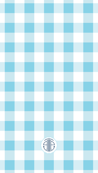 light blue gingham iPhone wallpaper