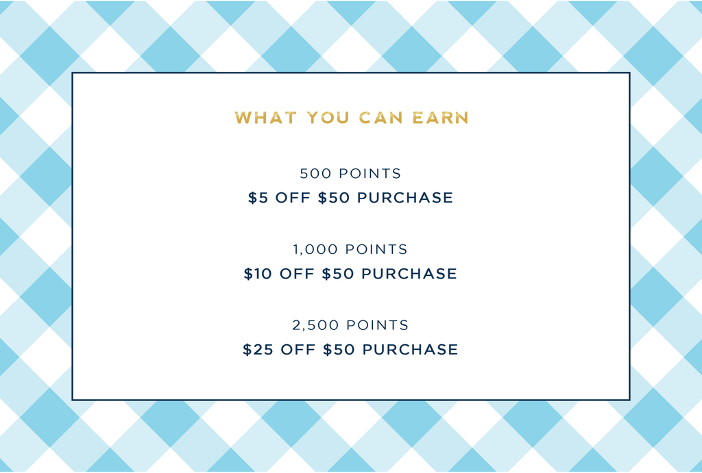rewards points loyalty program by the little palm
