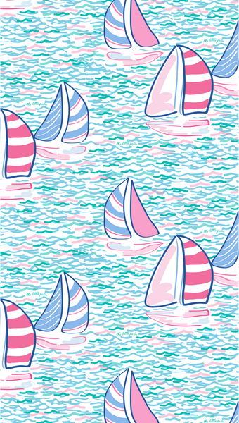 set sail preppy iPhone wallpaper