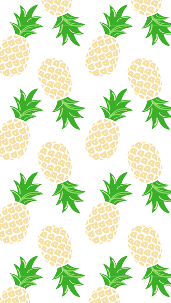 sunshine yellow pineapple iPhone wallpaper