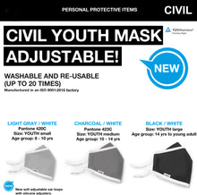 Youth Civilian Mask- LARGE (age 14 to youth adults)