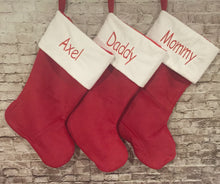 Traditional Personalized Plush Christmas Stocking