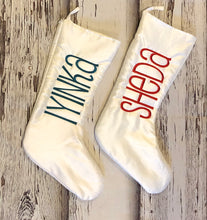 Personalized Chic Faux Satin Christmas Stocking