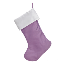 Traditional Personalized Faux Satin Christmas Stocking