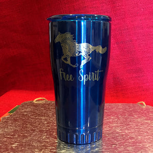 20 oz Stainless Steel Tumbler Free Spirit Travel Mug Hot Cold CLOSEOUT