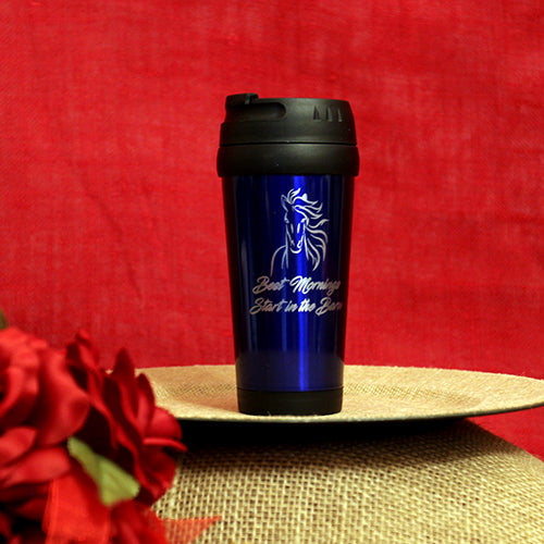 16 oz. Stainless Steel Travel Mug - Best Mornings