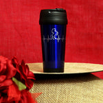 Load image into Gallery viewer, 16 oz. Stainless Steel Travel Mug - Heart Beat