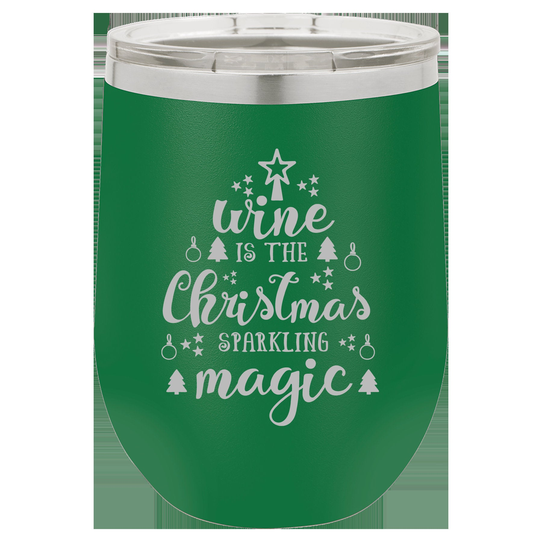 Wine is the Christmas Sparkling Magic Wine Tumbler