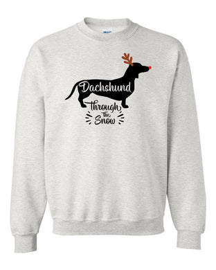 Dachsund Through the Snow Sweatshirt