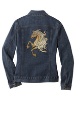 Load image into Gallery viewer, Customizable Embroidered Horse Denim Jacket - Mens