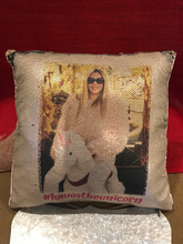 "14"" Sequin Pillow with Logo or Photograph"