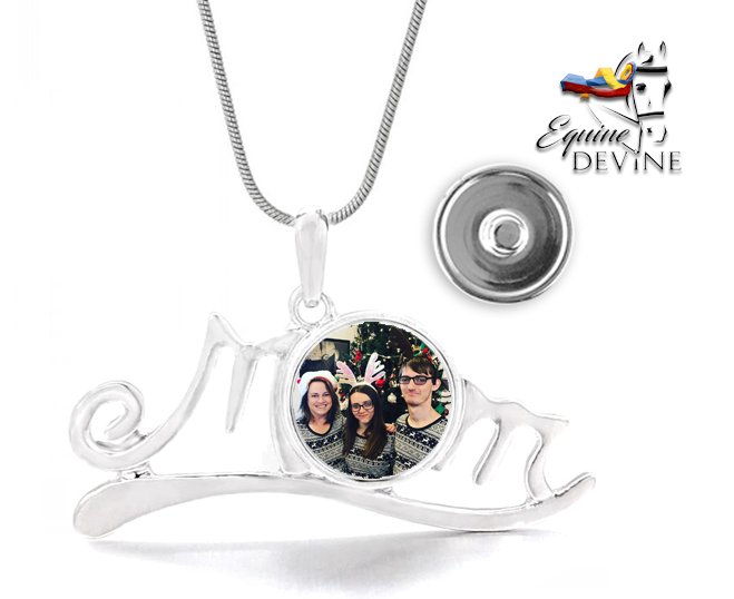 Mom Pendant Rope Necklace