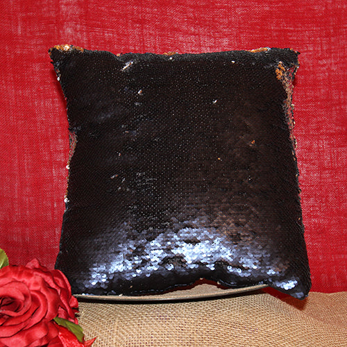 "14"" Sequin Pillow Cover with Logo or Photograph"