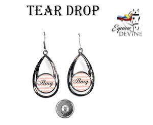Tear Drop Snap Earrings
