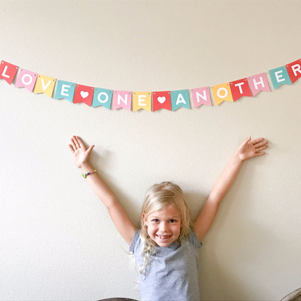 Love One Another - MINI banner printable