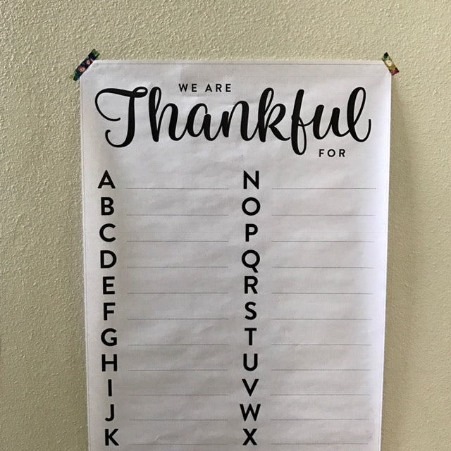 Thankful for ... ABCs (24x36)