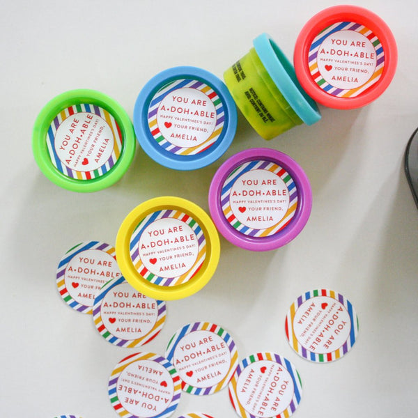 play doh tags / stickers /  Printable Valentines