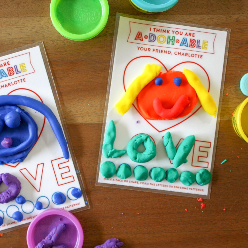 Mini Play Doh Mat Printable Valentines