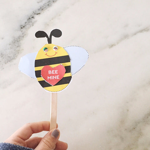 BEE Mine Stick Puppet