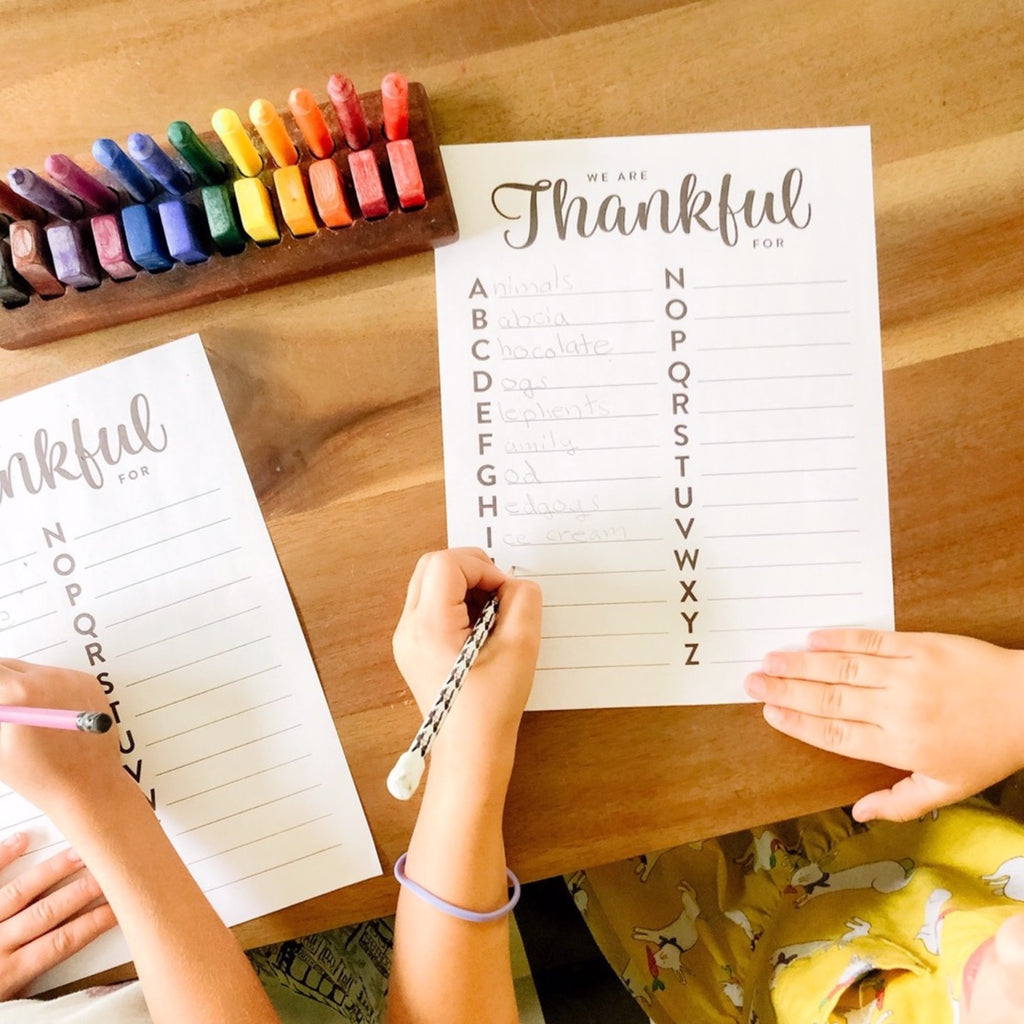 ABC Thanksgiving printable