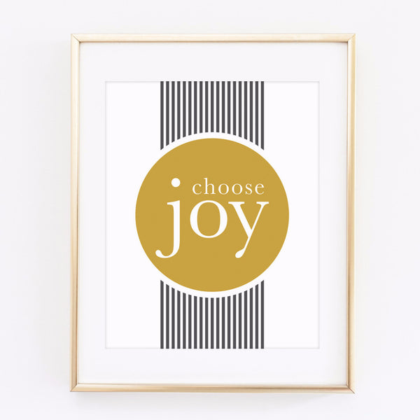 Choose Joy - printable 8x10 print