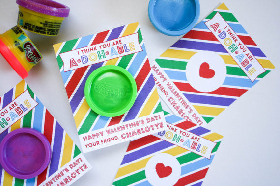 Printable Play Doh Valentines