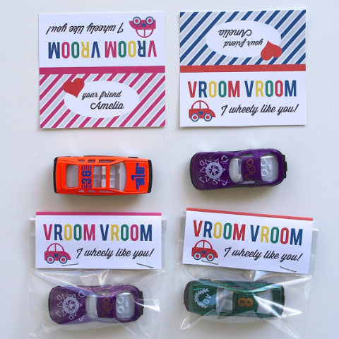 Printable Car Valentine Tags