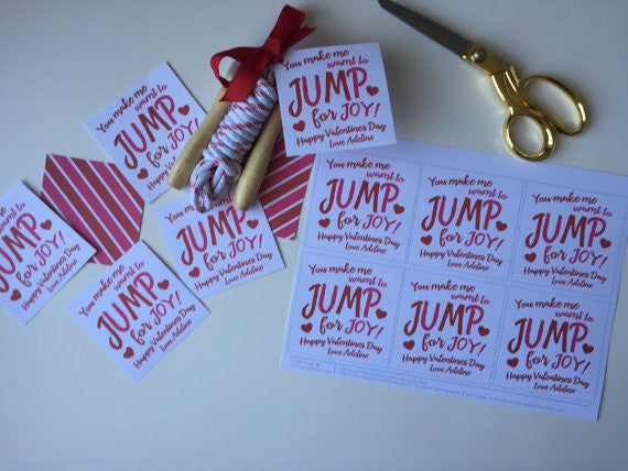 Jump Rope Printable Valentine Tags