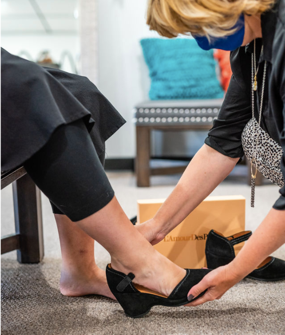 Cute and Comfy Shoes takes service to its fullest extent. We will help you find shoes and clothes to fit your needs, whether it be medical or stylistically.  We are here for you!