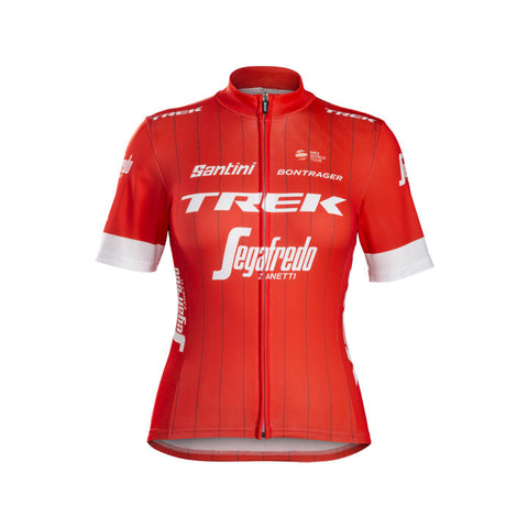 TREK, f maillot, Maillot Santini Trek-Segafredo Replica femme - Cycle Robert Boutique Magasin Vélo LaSalle Montréal Fitting bike Trek bicycles