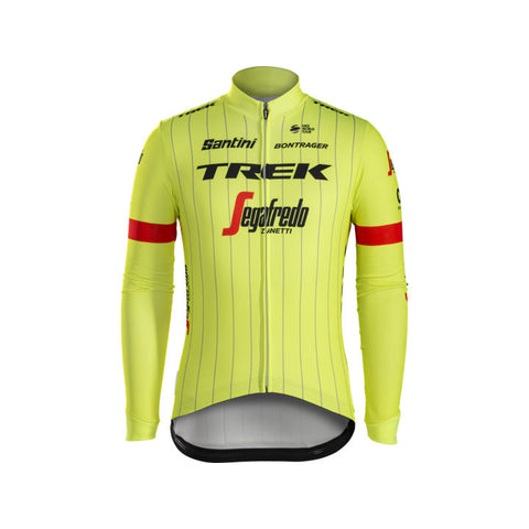 TREK, h maillot, Maillot thermique à manches longues Santini Trek-Segafredo Team - Cycle Robert Boutique Magasin Vélo LaSalle Montréal Fitting bike Trek bicycles