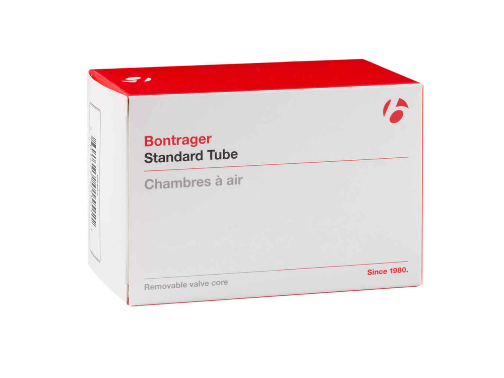Bontrager, tube, Bontrager Standard Schrader Valve Bicycle Tubes - Cycle Robert Boutique Magasin Vélo LaSalle Montréal Fitting bike Trek bicycles