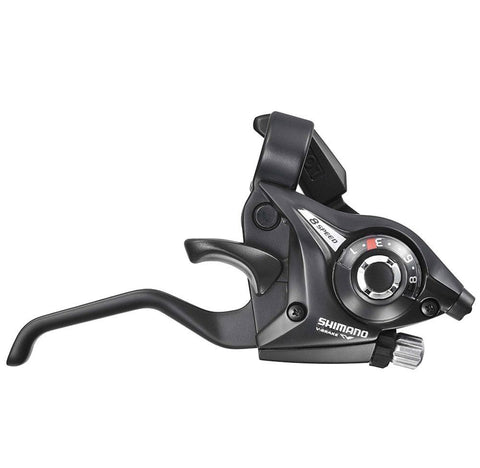 Shimano, shift/brake lever, Shimano Altus ST-EF51-L (2A) levier de vitesses / frein à 7 vitesses - Cycle Robert Boutique Magasin Vélo LaSalle Montréal Fitting bike Trek bicycles