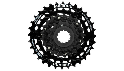 Shimano, cassette, Shimano Cassette CS-HG200 - 7 vitesses - Cycle Robert Boutique Magasin Vélo LaSalle Montréal Fitting bike Trek bicycles