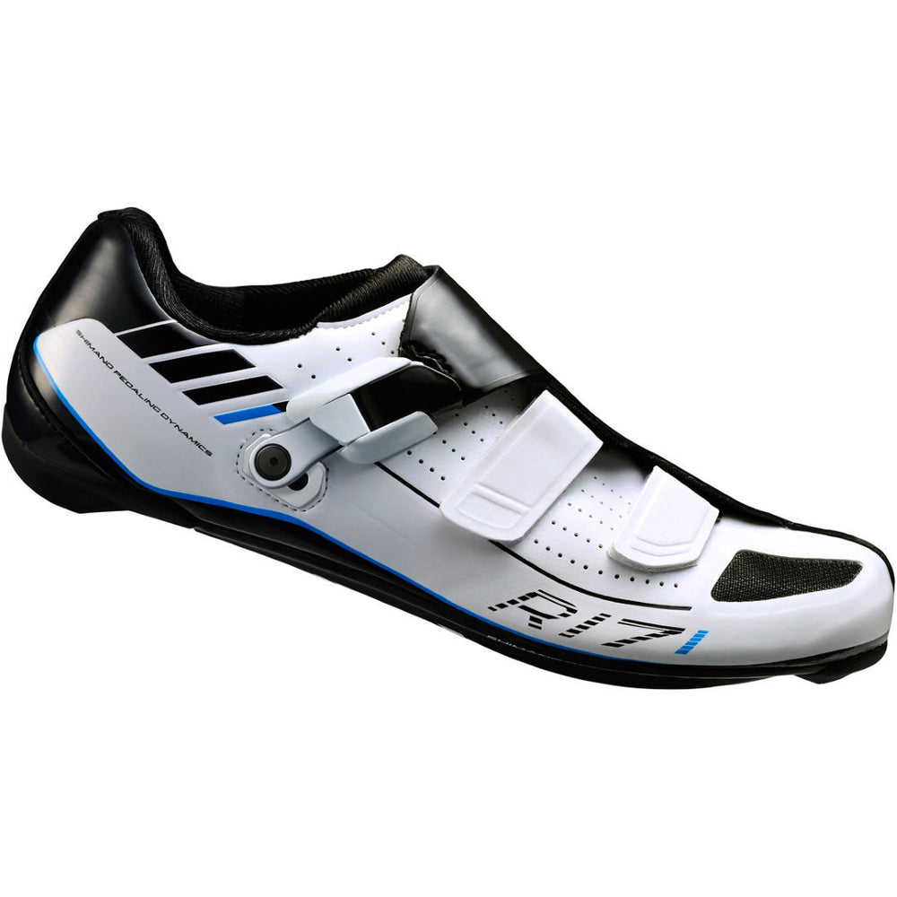 Shimano R171 White and Black Road Shoe from Cycle Robert in Montreal