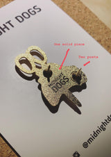 Us - Enamel Pin - Midnight Dogs